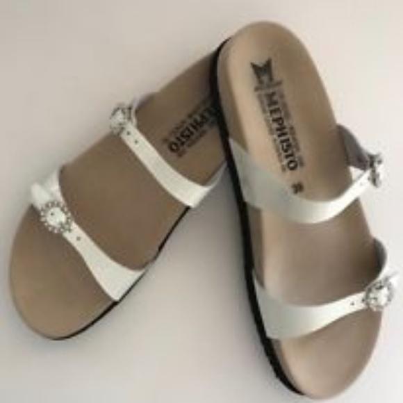 2edda149eb Mephisto Sydel Women's Sandal in White Patent. M_5b3072b9619745f8691ca7eb
